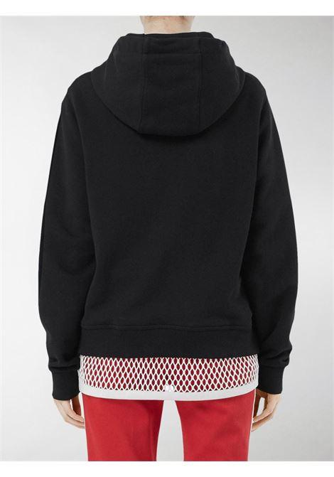 felpa in cotone nera con cappuccio e logo Burberry London England BURBERRY | Maglieria Moda | 8011652-POULTERA1189