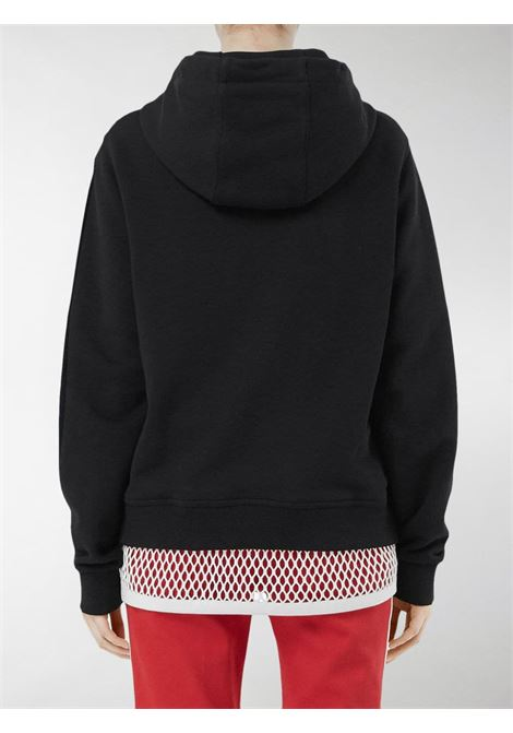 100% cotton short black hoodie with white Burberry London England printed logo BURBERRY |  | 8011652-POULTERA1189