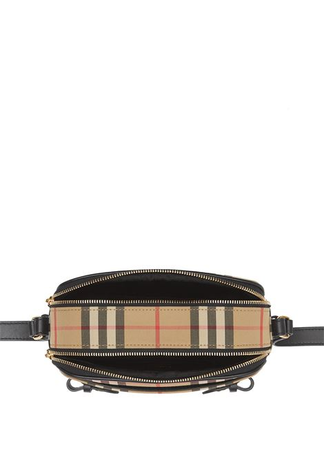camera bag con doppia chiusura a zip e tracolla in stampa vintage Burberry Check BURBERRY | Borsa | 8022345-LS CAMERA MICRO HOA7026