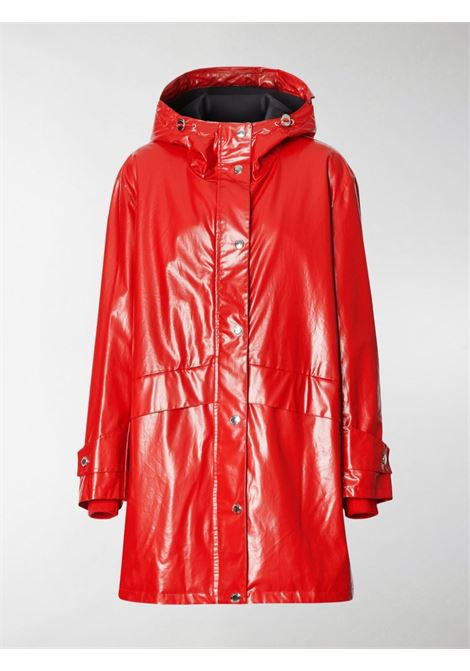 parka in nylon lucido rosso on logo sulle spalle BURBERRY | Giaccone | 8022739-CRAMONDA1460