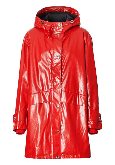 red long shiny parka coat with back Burberry logo BURBERRY |  | 8022739-CRAMONDA1460