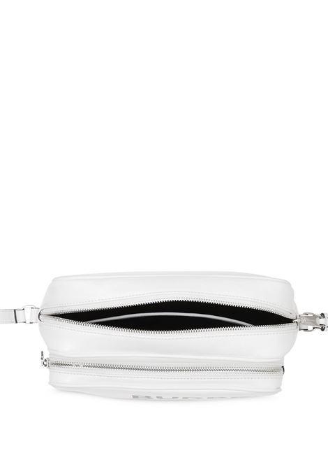 camera bag bianca con doppio scompartimento zip e logo Burberry nero BURBERRY | Borsa | 8022989-LL MD CAMERA BAGA1464