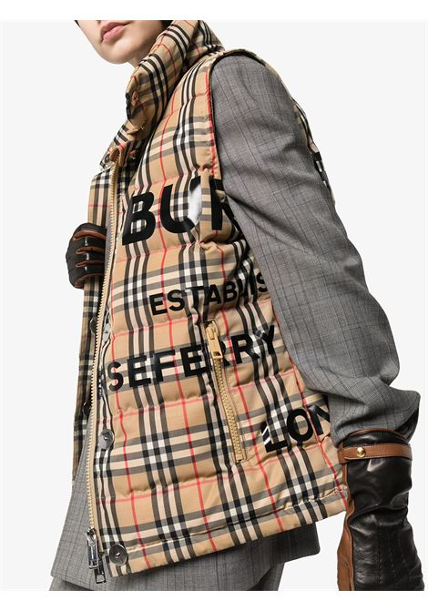 piumino smanicato in stampa vintage Burberry Check BURBERRY | Gilet | 8023729-STERLINGA7028