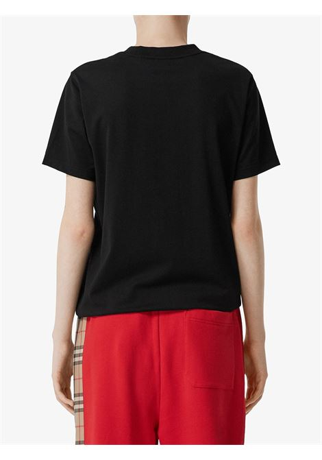 black cotton flag appliquè short sleeves t.shirt BURBERRY |  | 8024626-DOVEYA1189