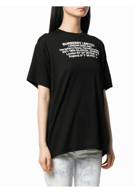black cotton Burberry coordinates white print t.shirt BURBERRY |  | 8024628-CARRICKA1189