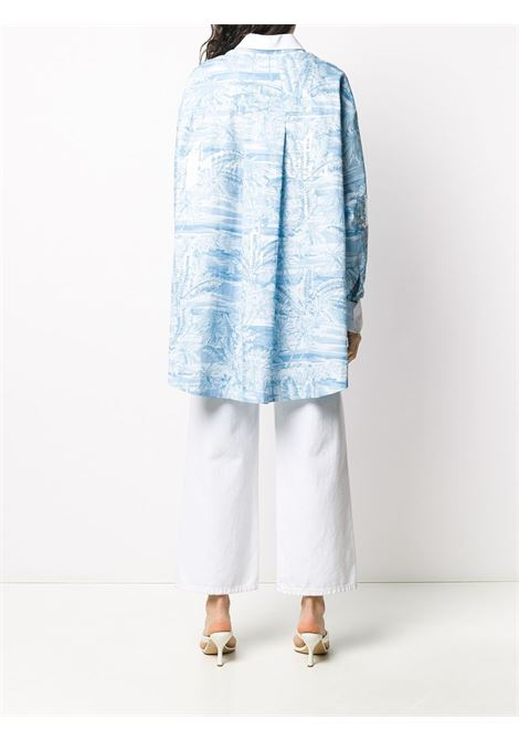 Light-blue and white cotton tropical-print oversized shirt  BROGNANO |  | 28BR2E04R-20429380