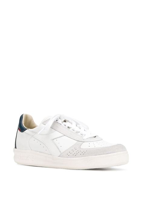white Elite sneakers with red details DIADORA |  | 174751-B.ELITE H LEATHER DIRTYC4656