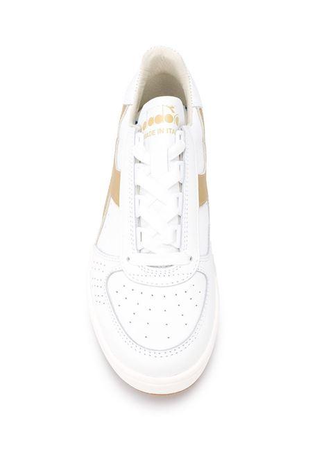 white leather Elite sneakers with gold details DIADORA |  | 176277-B.ELITE H ITALIA SPORTC1070