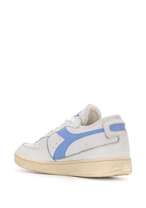 sneakers Basket in pelle bianco sporco e dettagli azzurro cielo DIADORA | Scarpa | 176282-MI BASKET ROW CUTC8449