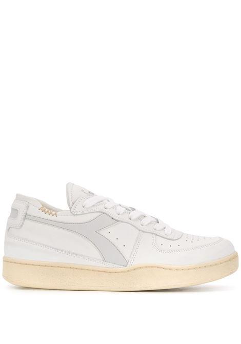 sneakers Basket bianche con suola effetto vintage DIADORA | Scarpa | 176282-MI BASKET ROW CUTC8450