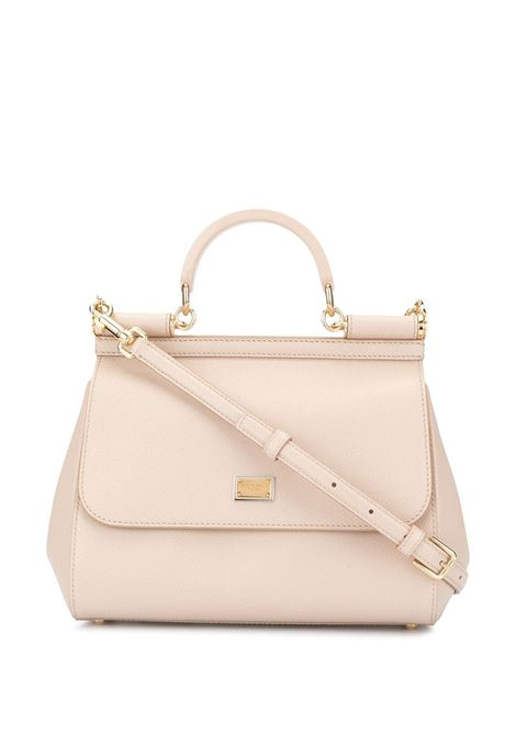 Miss Sicily in pelle di vitello color cipria DOLCE & GABBANA | Borsa | BB6002-B543880414