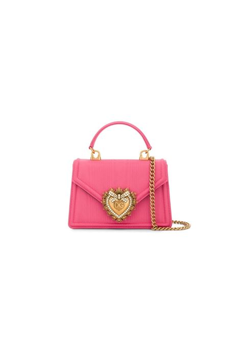 small silk Devotion cross-body bag with gold metal details DOLCE & GABBANA |  | BB6711-AA66880400