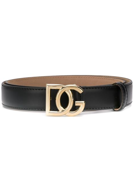 black calf leather gold buckle belt with DG logo DOLCE & GABBANA |  | BE1355-AX35080999