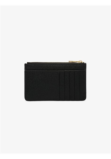 black dauphine leather cardholder with crystal DG emebellishment logo DOLCE & GABBANA |  | BI1261-AU77180999