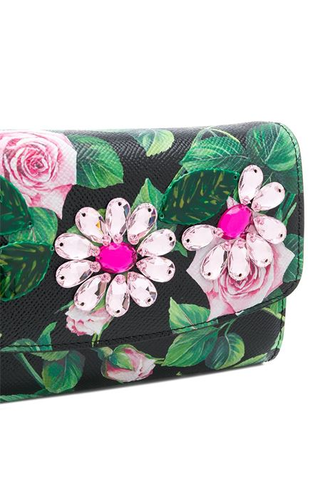 crossbody dauphine leather cross-body bag with Tropical Rose print DOLCE & GABBANA |  | BI1275-AJ761HN96C