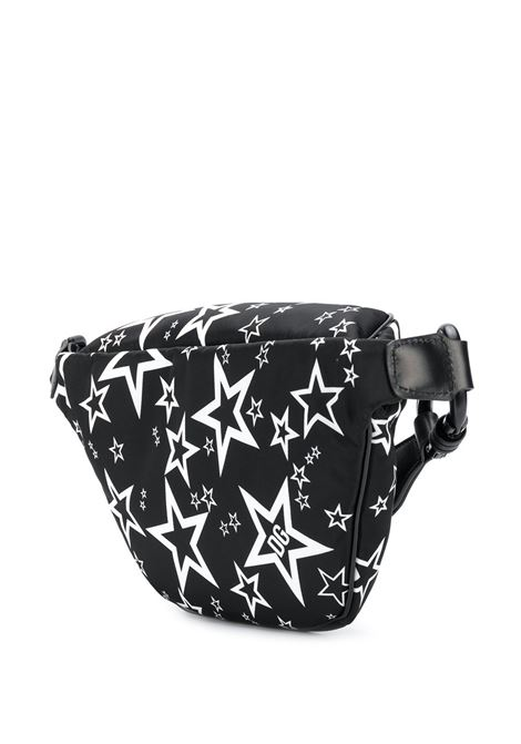 black nylon belt bag with leather details and white star print DOLCE & GABBANA |  | BM1760-AJ610HN36C