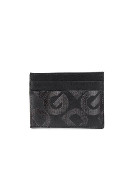 black calf leather cardholder with grey DG logo DOLCE & GABBANA |  | BP0330-AJ690HNNDN