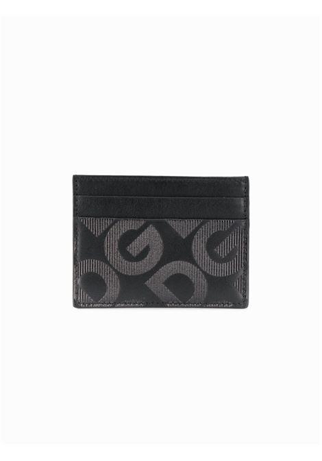 porta carte di credito logato nero in pelle di vitello DOLCE & GABBANA | Porta Cartacredito | BP0330-AJ690HNNDN