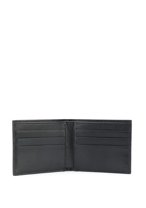 portafogli nero in pelle di vitello zigrinata con stampa DG Mania grigio DOLCE & GABBANA | Portafogli | BP1321-AJ690HNNDN