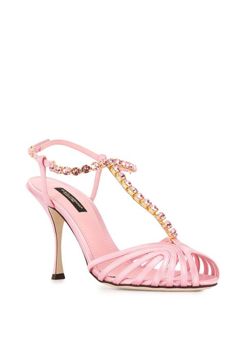 100 high stiletto heel satin and leather pink sandals DOLCE & GABBANA |  | CR0963-A763087141