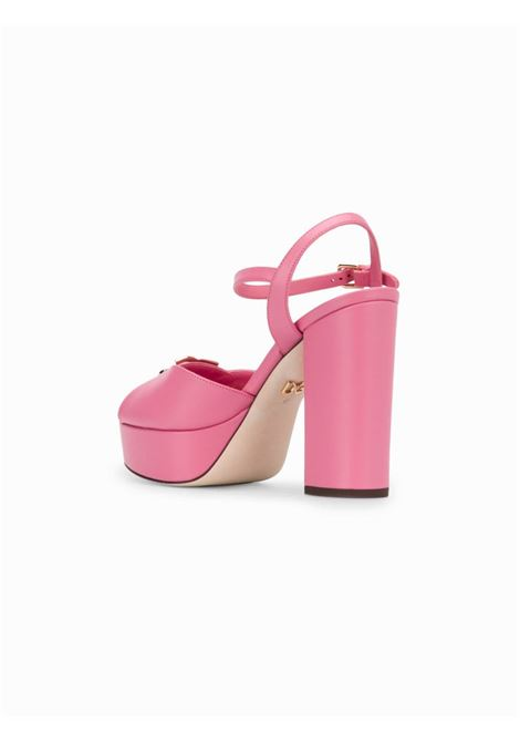 calf leather pink platform open toe sandals DOLCE & GABBANA |  | CR0965-AX38786163