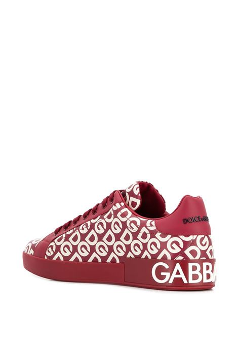red calf-skin leather Portofino sneakers with white DG print all over DOLCE & GABBANA |  | CS1570-AA883HX92A