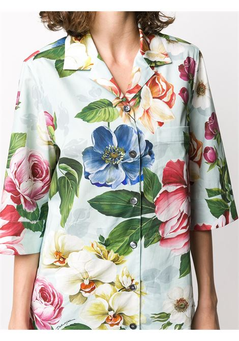 cotton light green floral print shirt DOLCE & GABBANA |  | F5J03T-HS5GBHC1AM