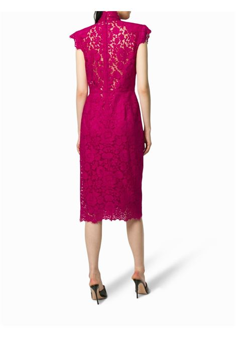 pink lace midi dress with front box and fitted waist  DOLCE & GABBANA |  | F6G7ZT-HLMHWF0382
