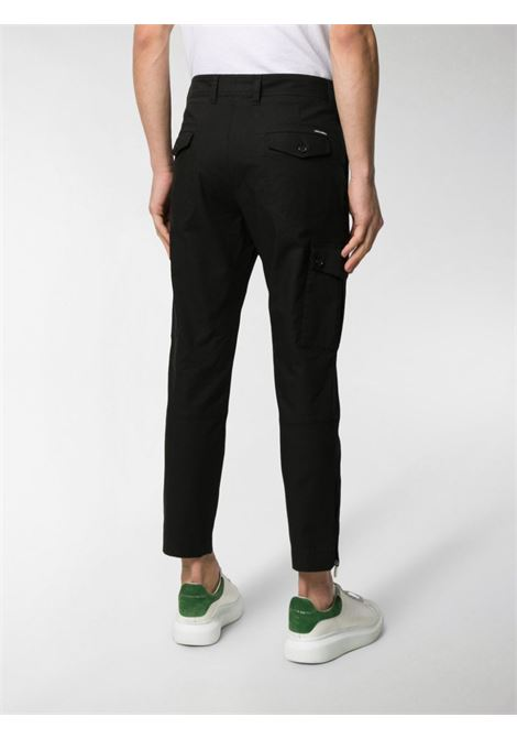 black slim fit cropped cotton cargo pants DOLCE & GABBANA |  | GYA8ET-G8BQ2N0000
