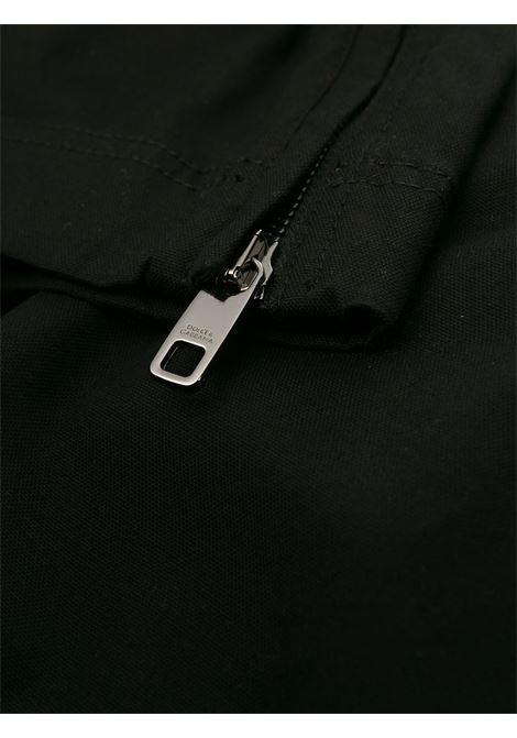 pantaloni cargo slim fit neri in cotone elasticizzato DOLCE & GABBANA | Pantaloni | GYA8ET-G8BQ2N0000