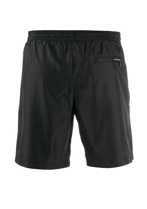 black polyester swim short with side contrast band  DOLCE & GABBANA |  | M4A68T-FUSFWN0000