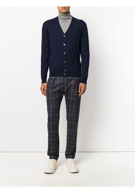 cardigan blu in lana merino e seta con bottoni ELEVENTY | Maglieria Moda | 979MA0195-MAG2400311