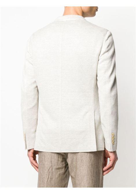 linen oyster beige single-breasted blazer ELEVENTY |  | A70GIAA04-TES0A08102