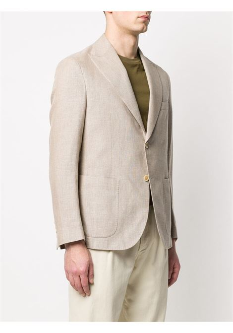 beige cotton and linen single breasted beige blazer ELEVENTY |  | A70GIAA05-TES0A04302