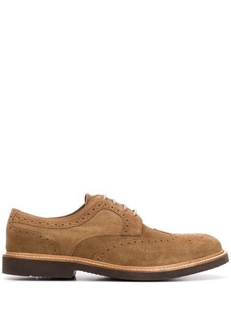 soft camel suede Oxford brogue shoes ELEVENTY |  | A72SCAA06-SCA0A02903