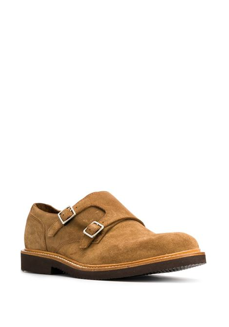 suede monk shoes in camel tone ELEVENTY |  | A72SCAA08-SCA0A02903