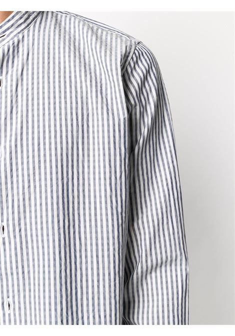 Jeans blue cotton textured stripe shirt featuring vertical stripe pattern ELEVENTY |  | A75CAMA04-TES0A06408