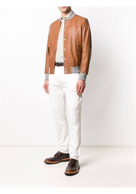 Camicia a quadri a maniche lunghe in lino beige ostrica con motivo a quadri ELEVENTY |  | A75CAMA05-TES0A01402