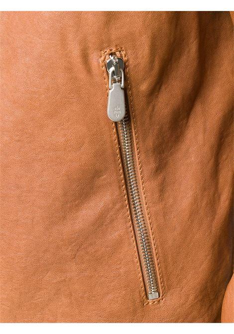 Giacca con cappuccio in pelle di capra cammello con zip ELEVENTY | Giubbini | A75GBTA10-PEL0A00904