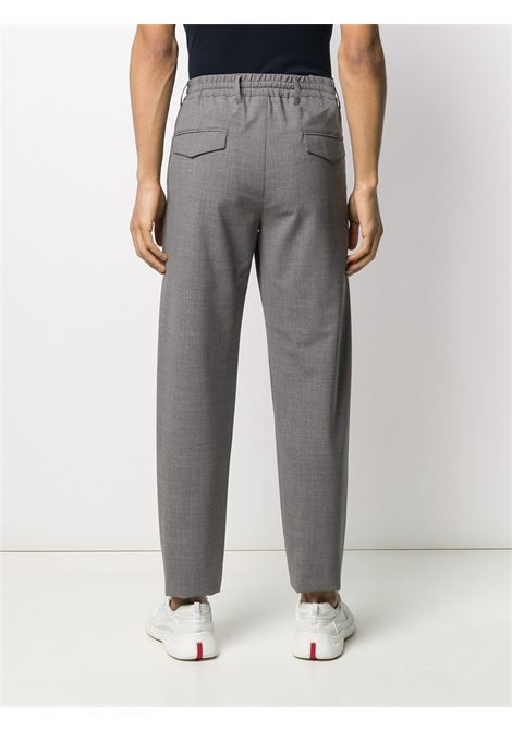 Grey wool elasticated drawstring trousers featuring pleated details ELEVENTY |  | A75PANA01-TES0A05313