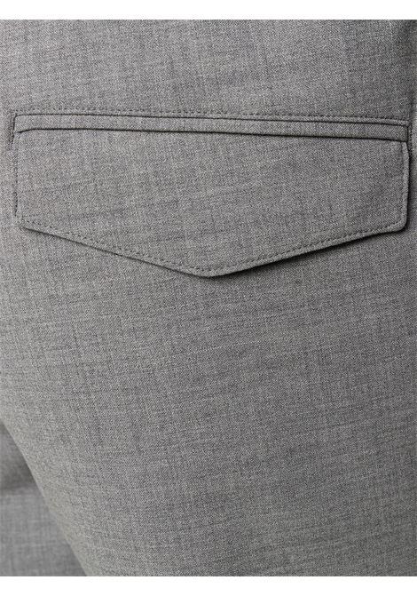 Pantaloni con coulisse elasticizzati in lana grigia con dettagli plissettati ELEVENTY | Pantaloni | A75PANA01-TES0A05313