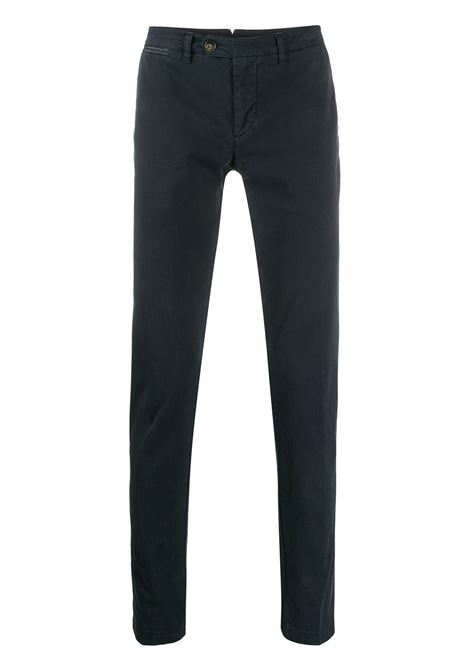 Navy blue cotton blend low-rise straight-leg chinos  ELEVENTY |  | A75PANA02-TET0A00311