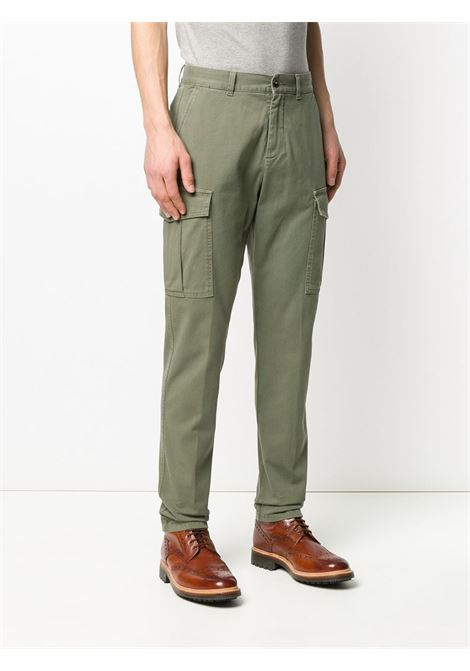 Sage green cotton blend trimmed tapered-leg cargo trousers ELEVENTY |  | A75PANA03-TET0A00107