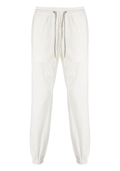 White cotton blend drawstring waist track pants  ELEVENTY |  | A75PANA12-TET0A01201