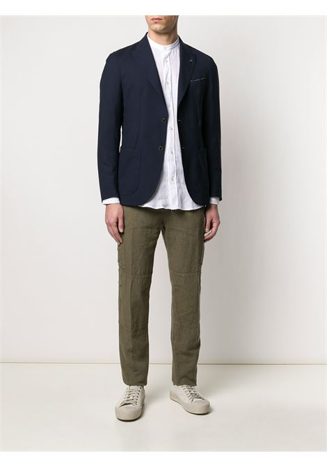 Olive green linen straight-leg cargo trousers  ELEVENTY |  | A75PANA15-TET0A01007