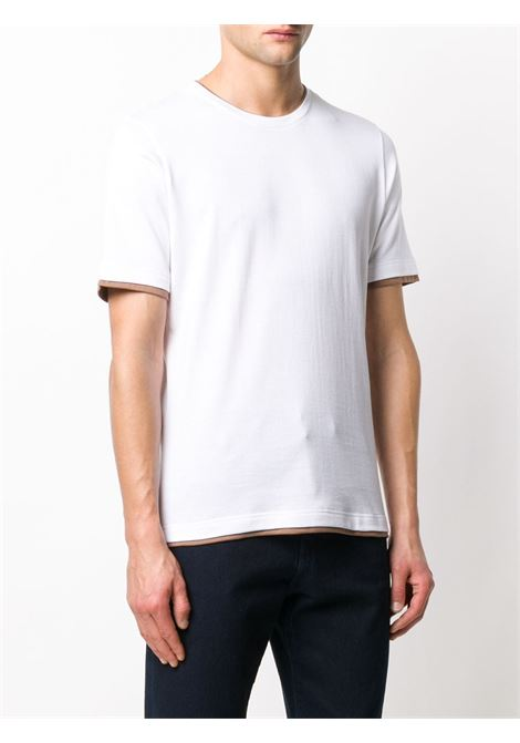 White cotton layered-effect crew-neck T-shirt   ELEVENTY |  | A75TSHA05-JER0A00601N