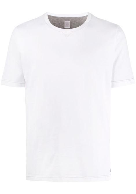 T-shirt girocollo in tinta unita di cotone bianco ELEVENTY | Maglieria Moda | A75TSHA07-JER0A00601N