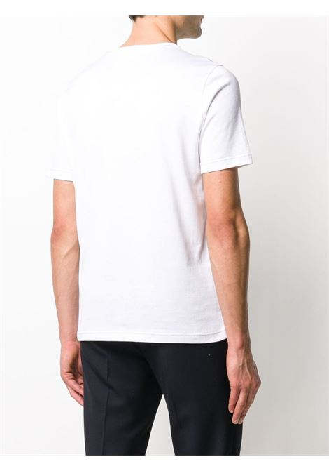 White cotton plain crew-neck T-shirt featuring contrast stitching ELEVENTY |  | A75TSHA07-JER0A00601N