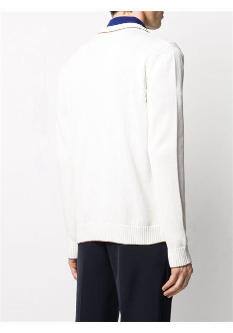 Cardigan abbottonato in cotone bianco brillante ELEVENTY | Maglieria Moda | A76GIAA04-MAG0A03601