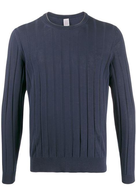 Felpa a righe girocollo in cotone blu navy ELEVENTY | Maglieria Moda | A76MAGA09-MAT0A00211